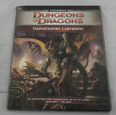 Dungeons and Dragons 4th Ed: Thunderspire Labyrinth H2 Adventure Lvls 5-6 21741