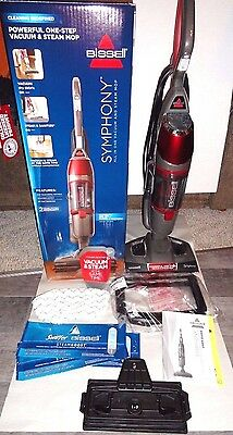FREE SHIP Bissell 1132 Symphony One Step All In One Vacuum & Steam Mop+More EUC