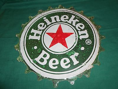 """Heineken Beer Tin Sign 19"""" from 1999 for the Man Cave"""