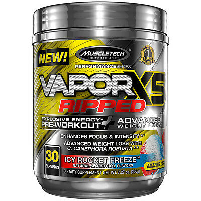 Muscletech NEW Vapor X5 Ripped Fat Burner - 30 Servings hydroxycut oxyshred