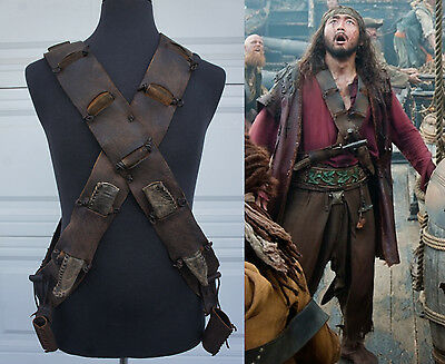 PIRATES OF THE CARIBBEAN Stranger Tides Leather Chest Holster Movie Prop costume