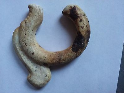 China Antique Longshan culture - chicken bone white jade carving a dragon