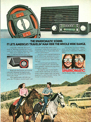 1981 vintage audio ad, SPARKOMATIC Audio Car Speakers -050813