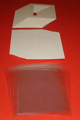 25 ICE WHITE PICTURE MOUNTS, BACK & BAG 20 x 16 for A3