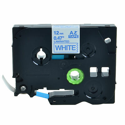 TZe-233 TZ-233 12mm Blue on White Label Tape For Brother P-Touch PT-2730 1800