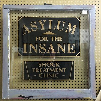 Asylum For The Insane Shock Treatment Center Antique Window Thick Glass