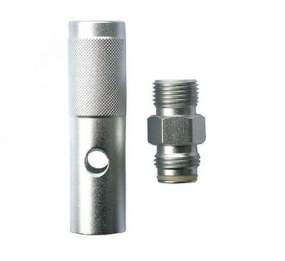 New Quick Change 12 Gram 12g CO2 Adapter-Silver