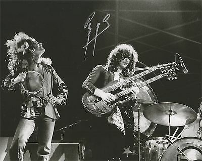 Guitar Legend Jimmy Page Signed 8X10 Led Zeppelin Stairway To Heaven Black Dog