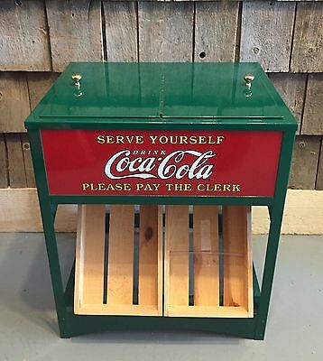 Vintage COCA COLA Salesman Sample Mini Cooler Ice Chest AMAZING DISPLAY Sign