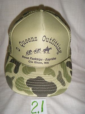 3 Queens Outfitting Horse Pack Trips Cle Elum, WA   Baseball HatTruckers Cap