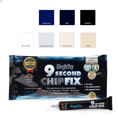 Fibreglass Repair Kit in a Tube. Fill & Color Damage Fast. 9 Second Chip Fix
