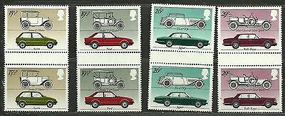 """GREAT BRITAIN 1982 Very Fine MNH OG Pair Stamps Set Scott #1002-1005 """" Cars """""""