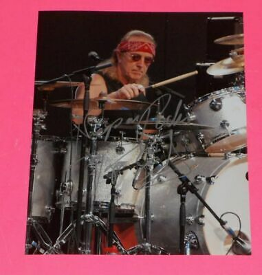 Proof Hearty Roger Earl Hand Signed 8x10 Photo Foghat Original Drummer Rare Authentic Autographs-original