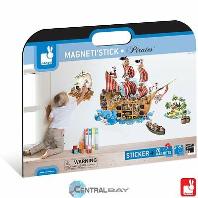 Centralbay.it Janod Magnetic Wall sticker Pirates