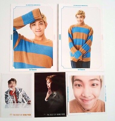 Set of 5 RAPMONSTER Japan fanmeeting Photo Post card  THE BEST OF BTS photo