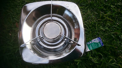 SINGLE BURNER LP GAS STOVE. NEW IN BOX. camping. outdoor cooking 2225