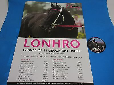 Lonhro Farewell Poster And Badge