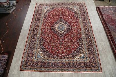 Handmade Traditional Floral Red 10x13 Najafabad Persian Area Rug Oriental Carpet