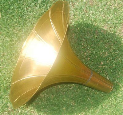 Collectable  Brass Horn For Gramophone + Brass Elbow  ...