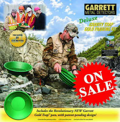 Garrett Deluxe Gold Pan Kit  NEW UPDATED PAN KIT