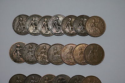 Uk Gb Penny Collection All Different A55 Zi34