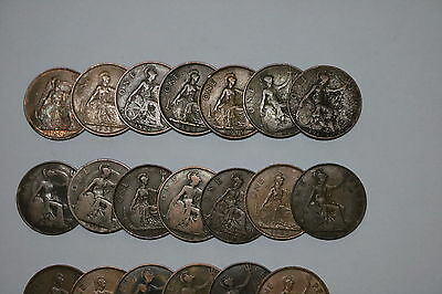 Uk Gb Penny Collection All Different A55 Zi35
