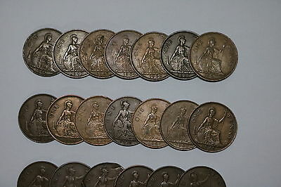 Uk Gb Penny Collection All Different A55 Zh43