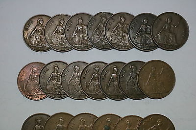 Uk Gb Penny Collection All Different A55 Zh8