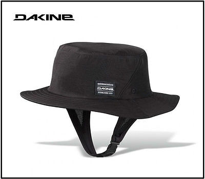 DAKINE INDO SURF HAT, Floating Surf Hat, Quick Dry, Chin Strap, Black, L/XL, NEW