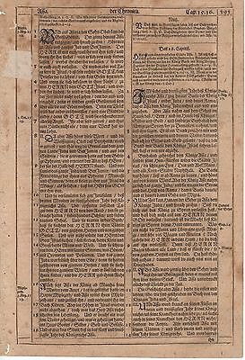 ca. 1674 Martin Luther Bible Leaf