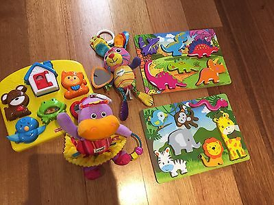Baby / Toddler Toy Bundle Fisher Price / Lamaze & Puzzles