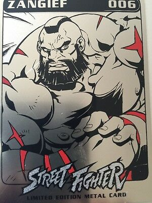 2016 SDCC UDON Exclusive - Zangief Metal Street Fighter Card Series 2 #006