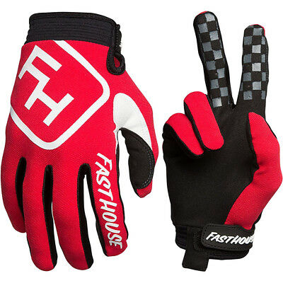 NEW Fasthouse MX Gear Speed Style Red White Dirt Bike FH Motocross Gloves