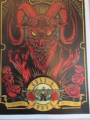 Guns And Roses Litho New York New Jersey Not In This Lifetime Tour 2016