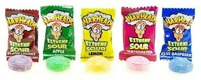 20 x Warheads Asorted Flavour  Lollies, 3.2 g each
