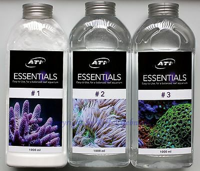 ATI Essentials Set 3 x 1000ml Mineralien Spurenelemente Meerwasser 9,63€/L