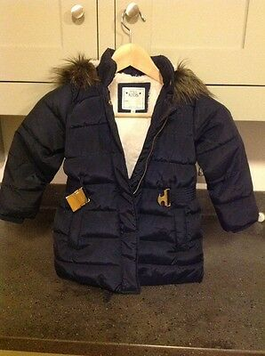 M&S Kids Blue Winter Jacket. Age 3-4 Years.