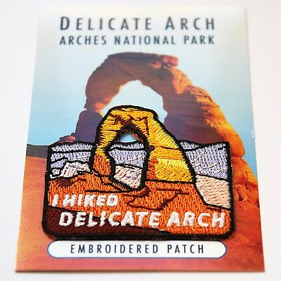 Official Arches National Park Souvenir Patch - I Hiked Delicate Arch - Moab Utah