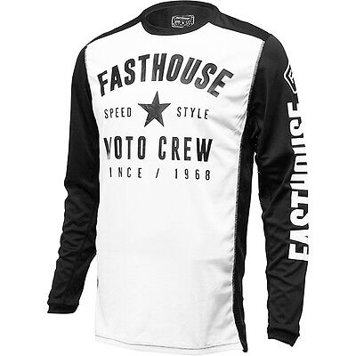 NEW Fasthouse MX Gear L1 Speed Style White Black Vented Motocross Jersey