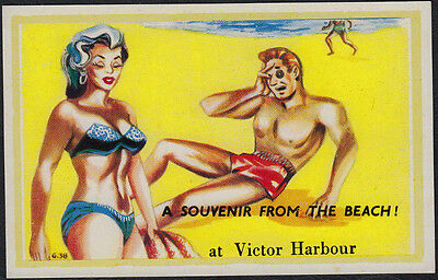 4142)   AUSTRALIAN COMIC PC - A SOUVENIR FROM THE BEACH !  at VICTOR HARBOUR