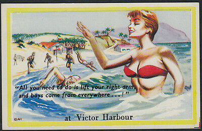 4095)   AUSTRALIAN COMIC PC - BOYS COME FROM EVERYWHERE  at VICTOR HARBOUR