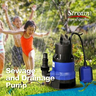Universal Automatic Submersible Sewage Heavy Dirty Water Pump F Garden Pond 400W