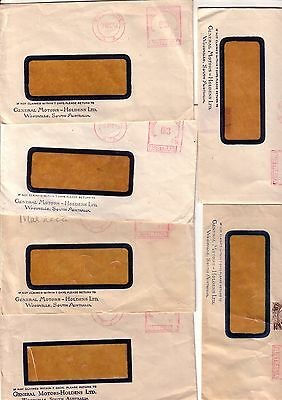 South Australia Woodville, General Moters Holden 1952-55 X 5 Covers.