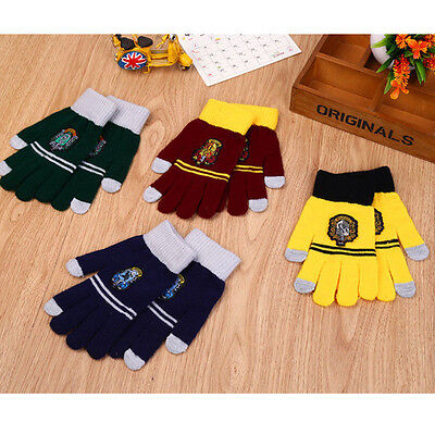 Love Cool Harry Potter Printed Touch Screen Splicing Striped Warm Gloves