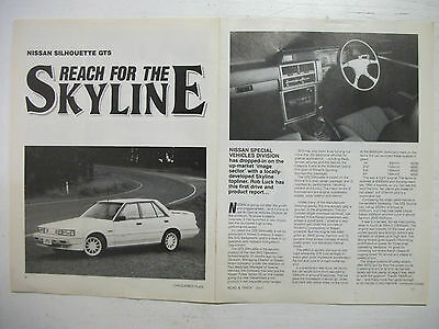 Nissan Skyline Silhouette Gts Series 1 4 Page Magazine Preview Article