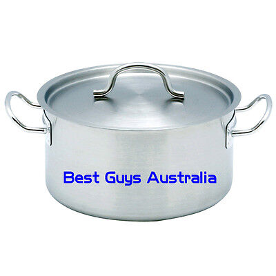 Brand New Stainless Steel 23L Stock Pot Chef Quality 12 Month Warranty