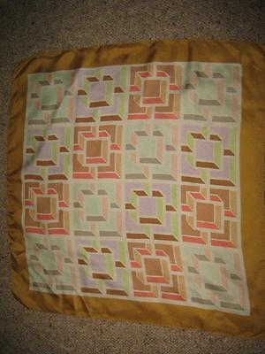 Liberty square scarf,approx 56 cm,  all over pattern, pure silk, vintage