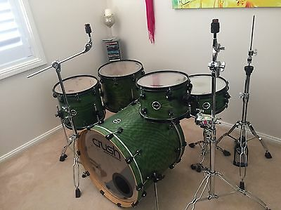 Crush Drums Chameleon Ash 5 Piece Drum Kit  (As New)
