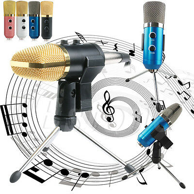 Audio PRO USB Cardioid Condenser Studio Sound Recording Microphone Mic w/ Stand