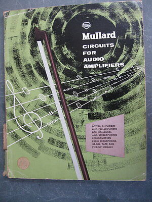 Vintage -  Circuits for Audio Amplifiers -  Mullard 1959